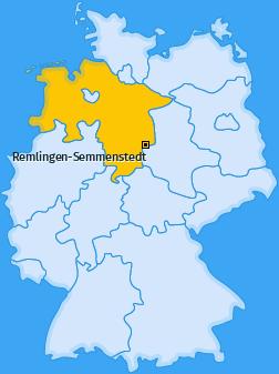 Karte Semmenstedt Remlingen-Semmenstedt