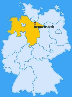 Karte von Reppenstedt
