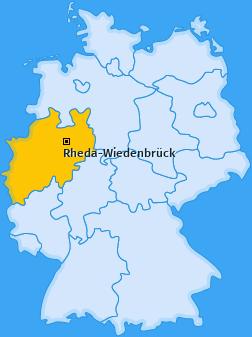 Karte von Rheda-Wiedenbrück