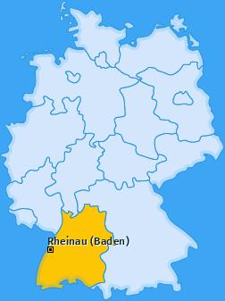 Karte von Rheinau (Baden)