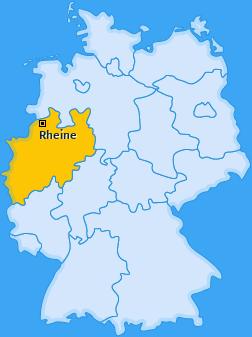 Karte von Rheine