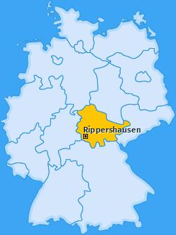 Karte von Rippershausen