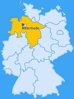 Karte von Ritterhude