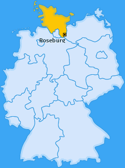 Karte von Roseburg