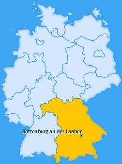 Karte von Rottenburg an der Laaber