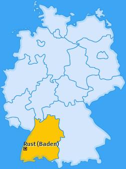 Karte von Rust (Baden)