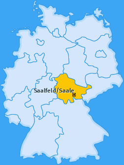 Karte von Saalfeld/Saale
