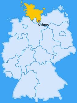 Karte von Sahms