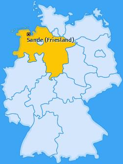 Karte von Sande (Friesland)