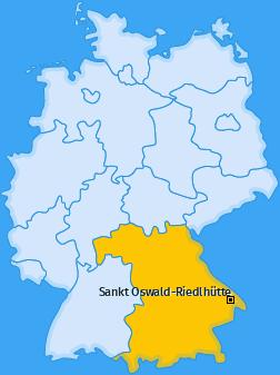 Karte von Sankt Oswald-Riedlhütte