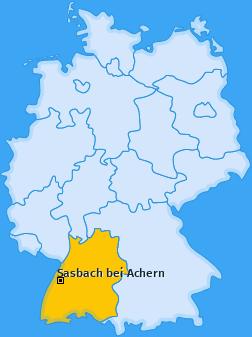 Karte von Sasbach bei Achern