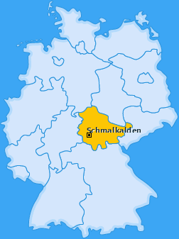 Karte von Schmalkalden