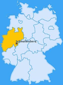 Karte von Schmallenberg