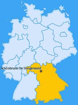 Karte von Schönbrunn im Steigerwald