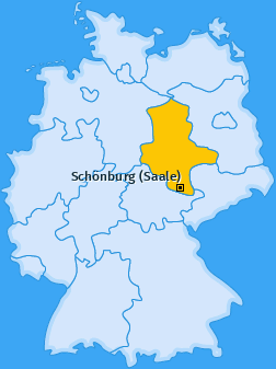 Karte von Schönburg (Saale)