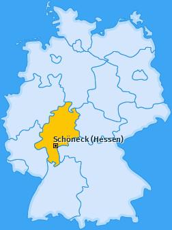 Karte von Schöneck (Hessen)