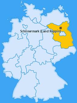 Karte von Schönermark (Land Ruppin)