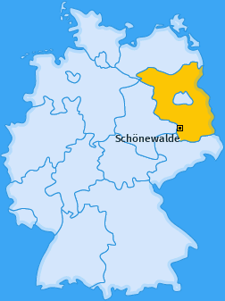 Karte von Schönewalde