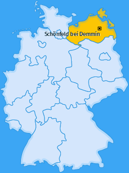 Karte von Schönfeld bei Demmin