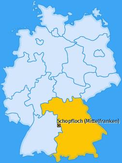 Karte von Schopfloch (Mittelfranken)