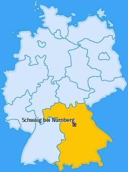 Karte von Schwaig bei Nürnberg