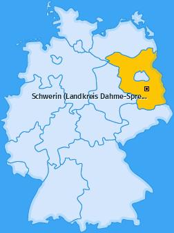 Karte von Schwerin (Landkreis Dahme-Spreewald)