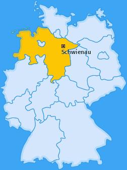Karte von Schwienau