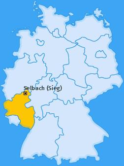 Karte von Selbach (Sieg)