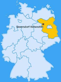 Karte von Sieversdorf-Hohenofen