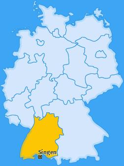 Karte von Singen