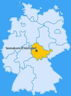 Karte von Sonneborn (Thüringen)