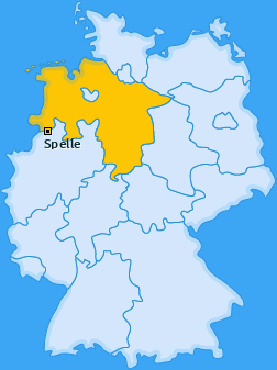 Karte von Spelle