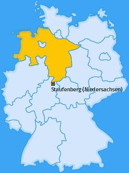 Karte von Staufenberg (Niedersachsen)