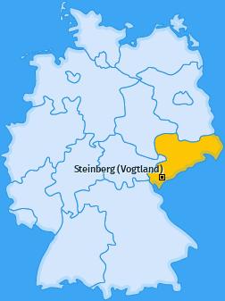Karte von Steinberg (Vogtland)