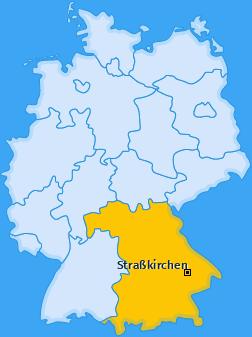 Karte von Straßkirchen