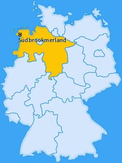 Karte von Südbrookmerland
