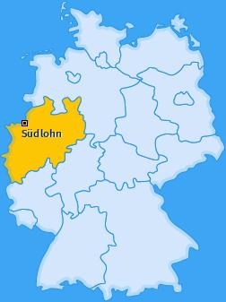 Karte von Südlohn