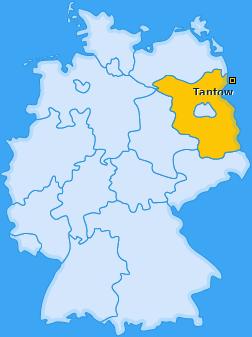 Karte von Tantow