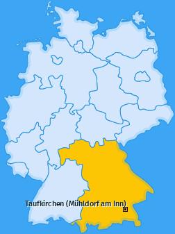 Karte von Taufkirchen (Mühldorf am Inn)
