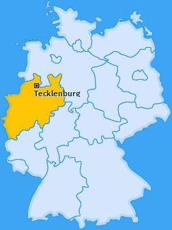 Karte von Tecklenburg