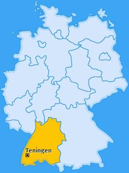 Karte von Teningen