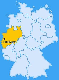 Karte von Tönisvorst