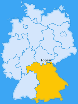 Karte von Töpen