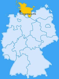 Karte von Trennewurth