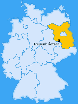 Karte von Treuenbrietzen