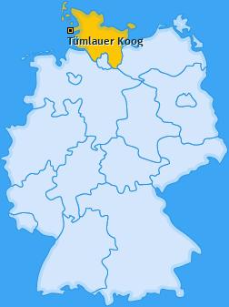 Karte von Tümlauer Koog