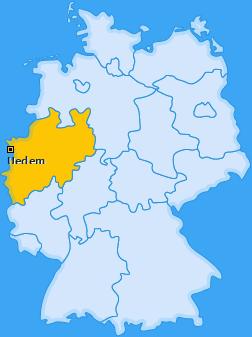 Karte von Uedem