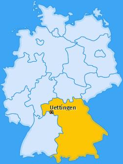 Karte von Uettingen