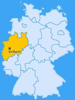Karte von Velbert
