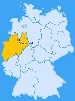 Karte von Versmold